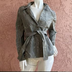 ARMANI Collezioni Women's Belted Snap-Button SOLD!